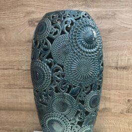 Vaso Ceramica Blu H 45 cm