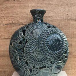 Vaso Ceramica Blu H 30 cm