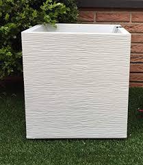 Vaso Quadro Bianco 30×30