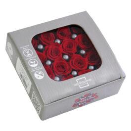 Rosa Stabilizzata Rossa cm  2,5 Confezione 16 pz