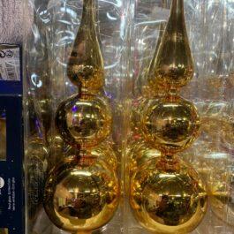 Puntale per Albero di Natale colore Oro Pz.1